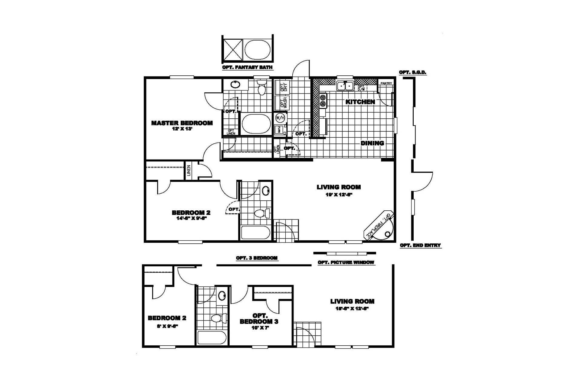 Manufactured Home Floor Plan Clayton Sunrise Orw
