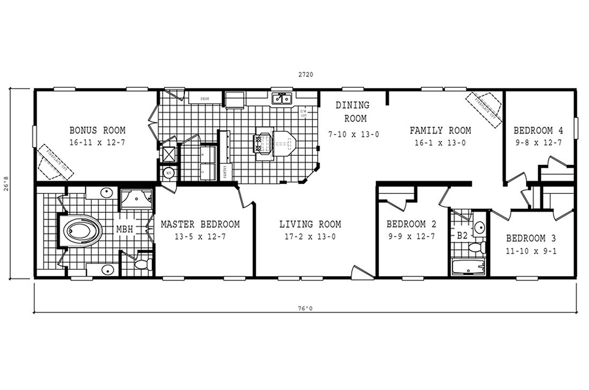 Manufactured Home Floor Plan Schult Magnolia Cla
