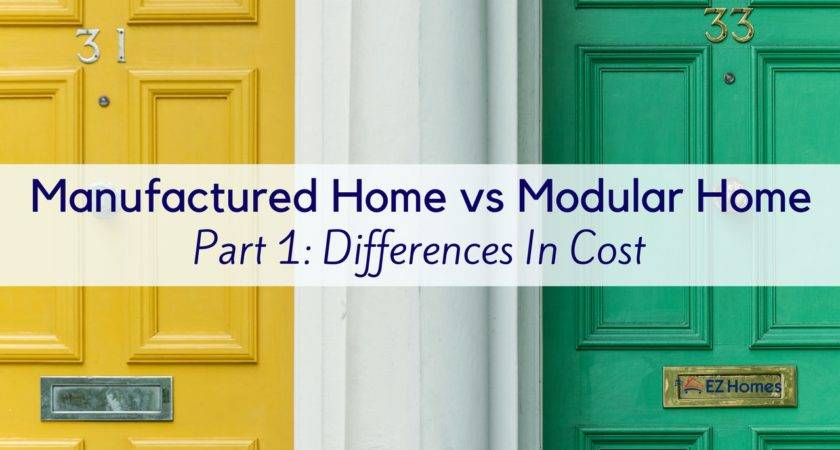 Manufactured Home Modular Part Differences