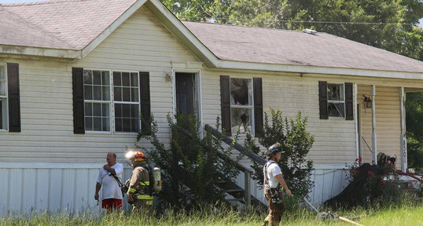 Marshal Investigating Century Mobile Home Blaze Northescambia