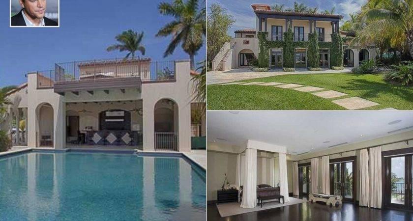 Matt Damon Sells Miami Beach Mansion Photos Celebrity