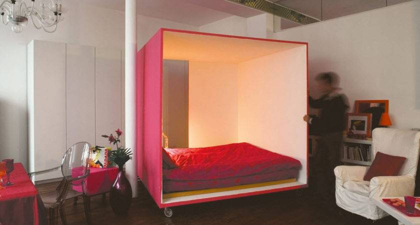Mobile Bed Cube Studio Apartment Seven Colors