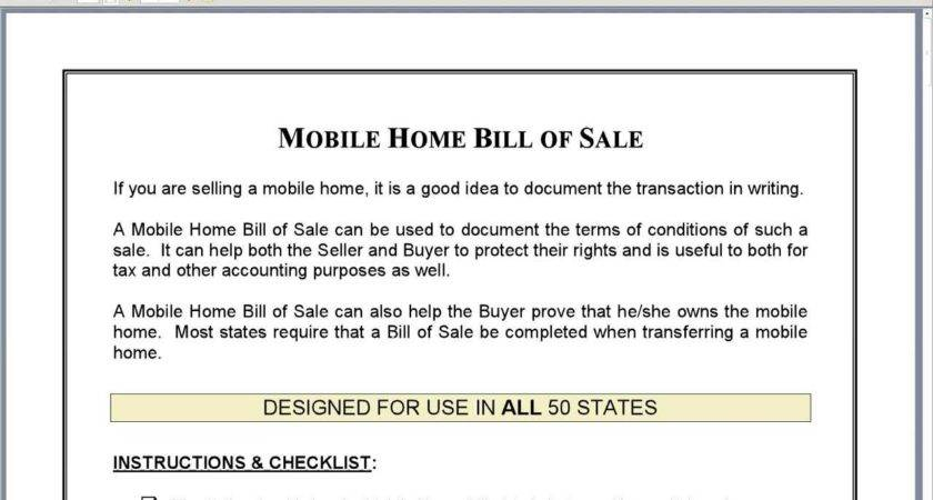 Mobile Home Bill Sale Youtube