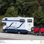 Mobile Home Car Trailer Editorial