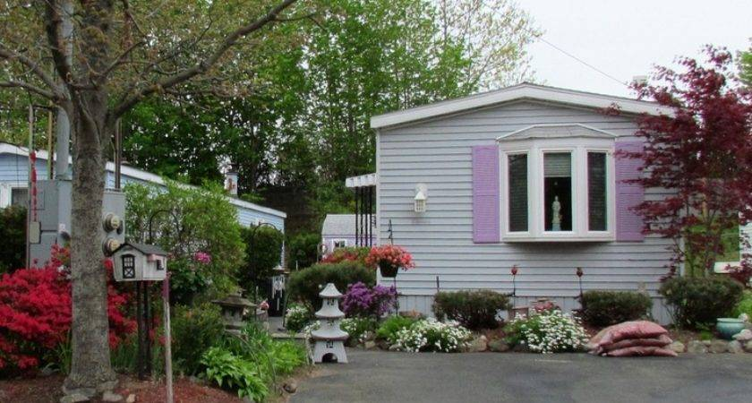 Mobile Home Colorful Landscaping Homes Pinterest