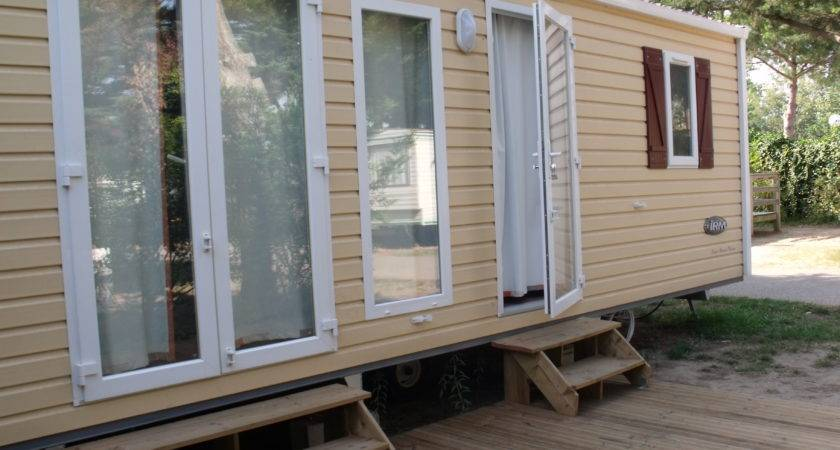 Mobile Home Cottage Riviera Model Soleil Bleu Toiles