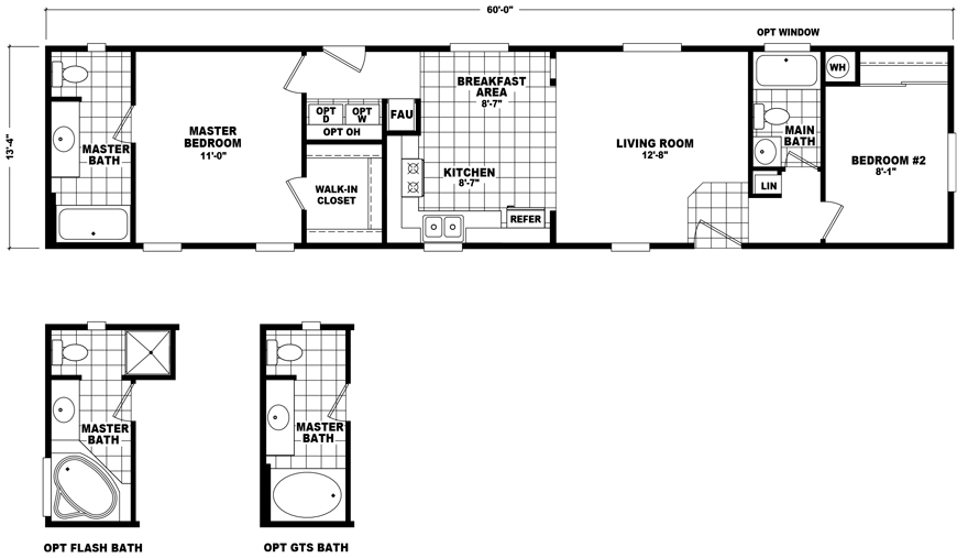 Mobile Home Floor Plan New Single Wide Homes