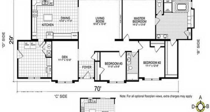 Mobile Home Floor Plans Double Wide Side