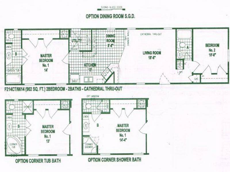 Mobile Home Floor Plans Option Single Wide
