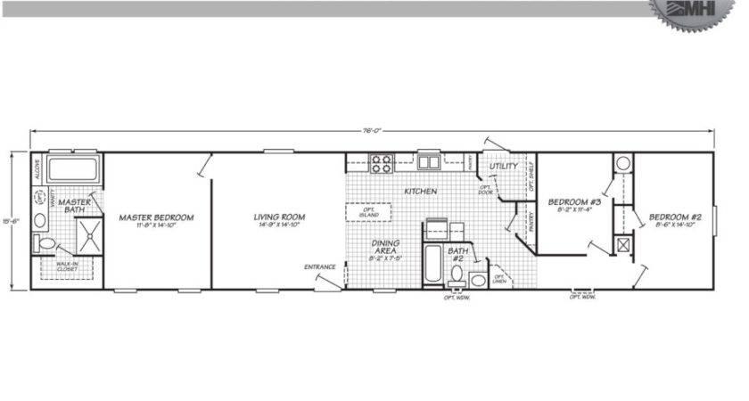 Mobile Home Floor Plans Texas Also Bedroom Single Wide
