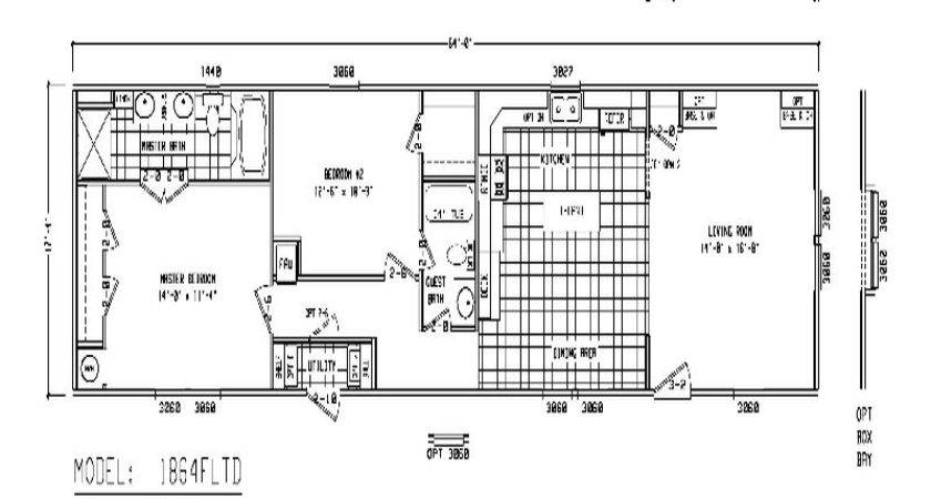 Mobile Home Floor Plans Used Single Wide Homes