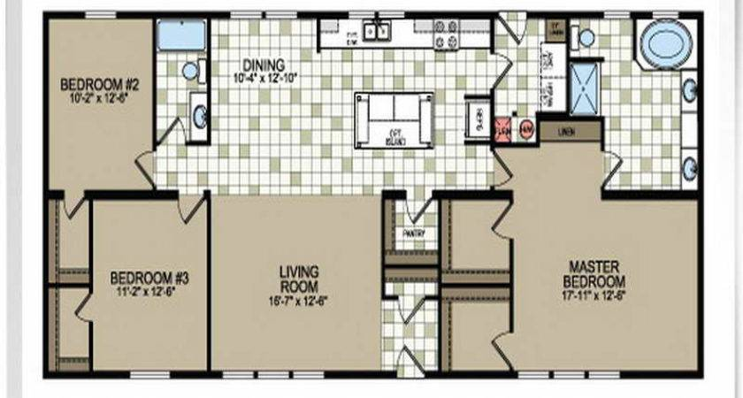 Mobile Home Plans Double Wide Floor