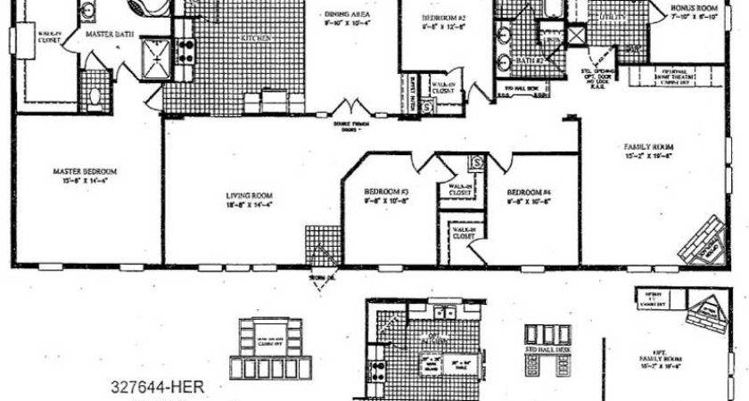 Mobile Home Plans Double Wide Smalltowndjs