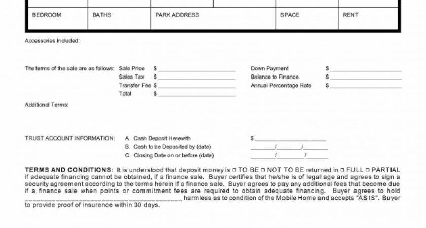 Mobile Home Purchase Agreement Nevada Legal Forms Tax