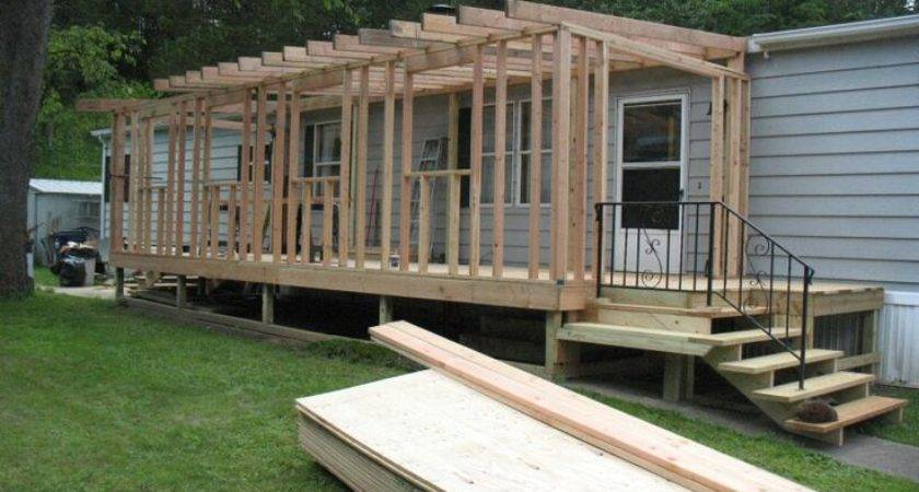 Mobile Home Sunroom During Homes Campers Pinterest