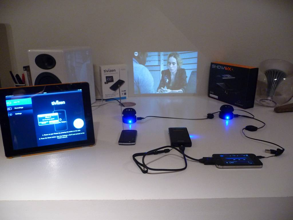 Mobile Home Theater Setup Microvision Tracker