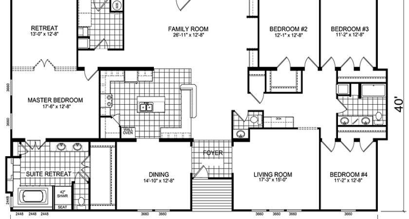 Mobile Homes Architecture Triple Wide Home Floor Plans