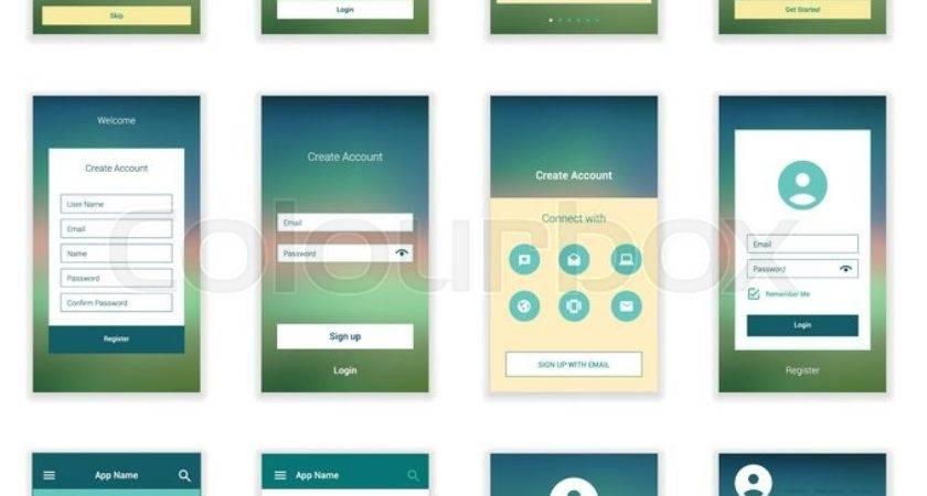Mobile Screens User Interface Kit Modern