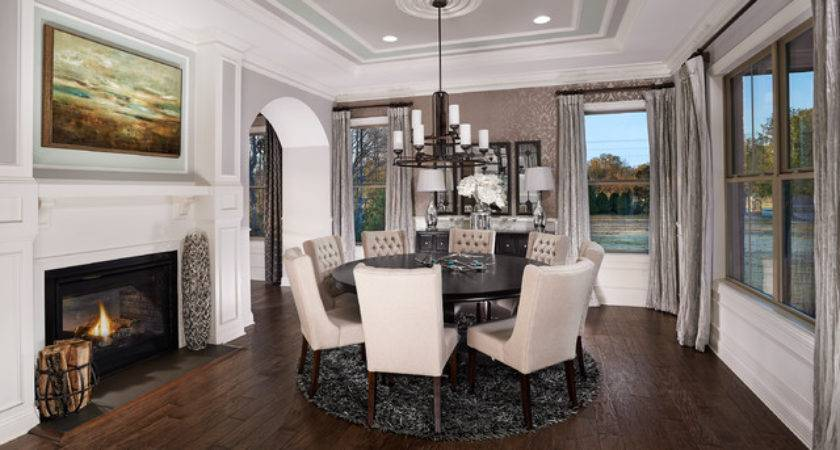 Model Home Interiors Transitional Dining Room Other