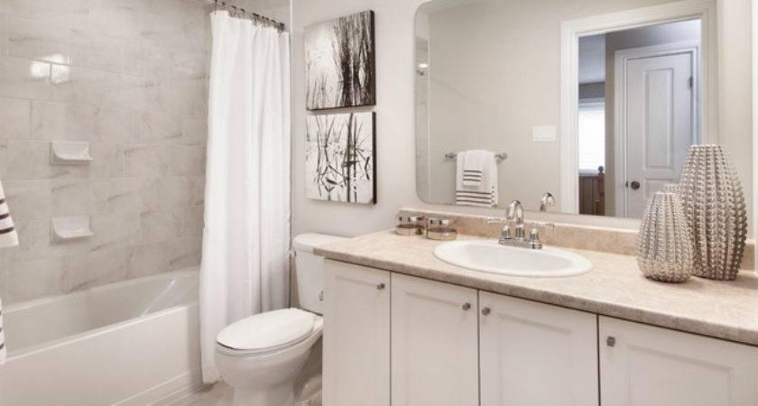 Model Homes Transitional Bathroom Ottawa Tartan