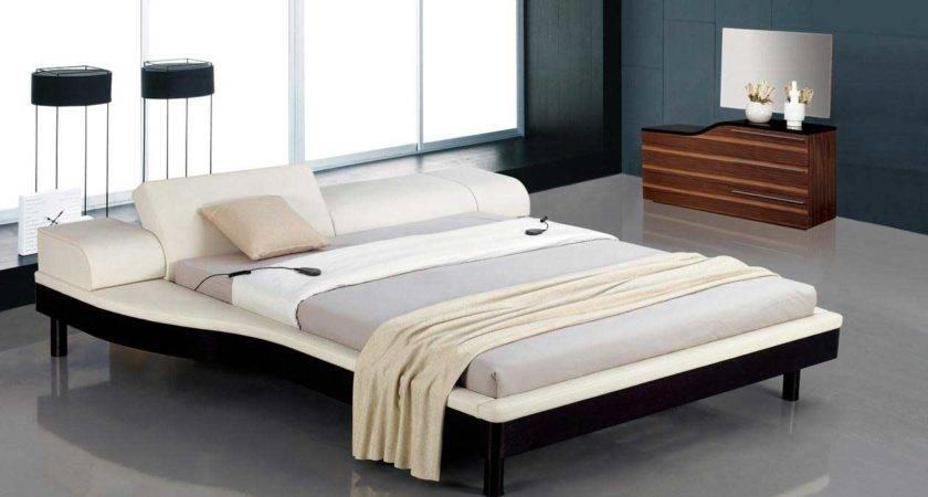 Modern Bed Adjustable Leatherette Headboard Home Best Furniture