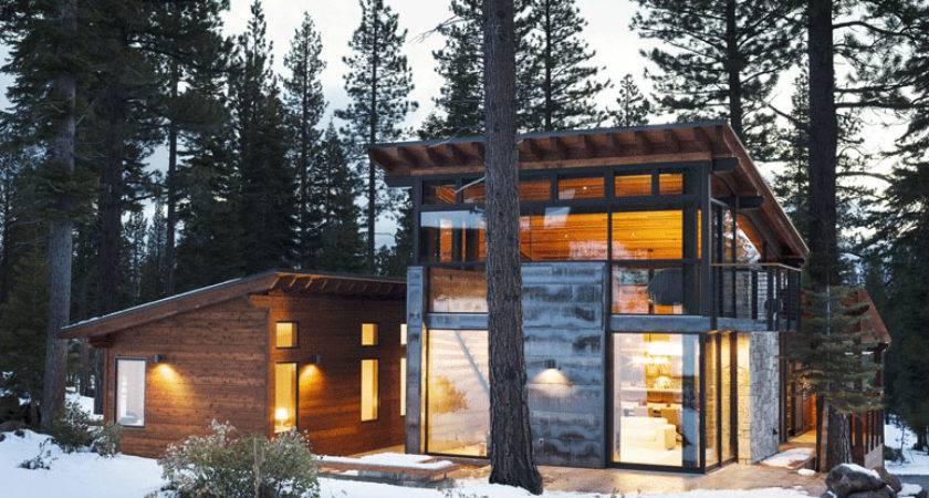 Modern Mountain Home Truckee California Prefab Hybrid