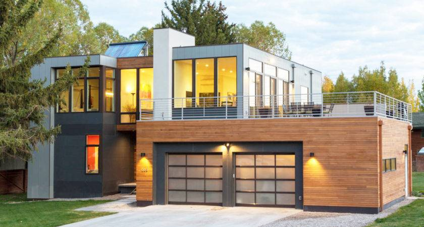 Modern Open Plan Home Jackson Hole Reduces Construction