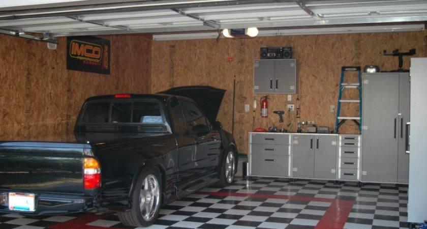 Modern Workshop Garage Interior Design Ideas Brown Wall