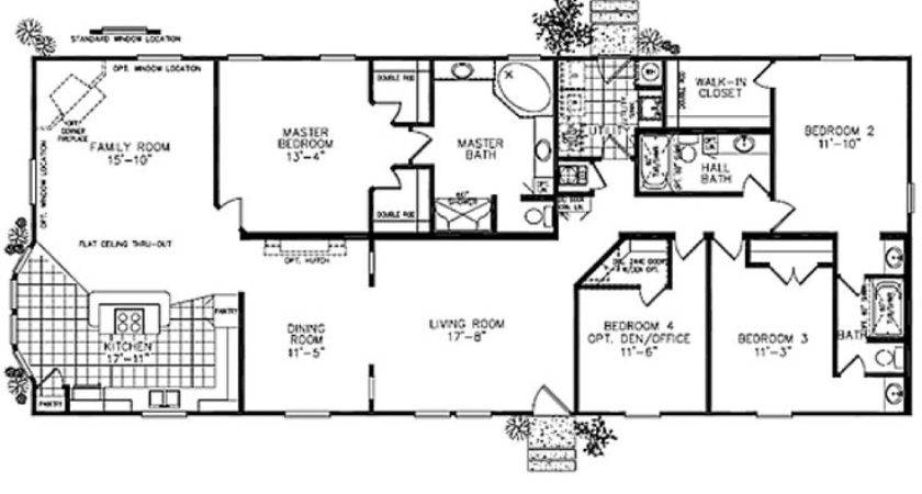 Modular Homes Classic Ranch Home Floor Plan