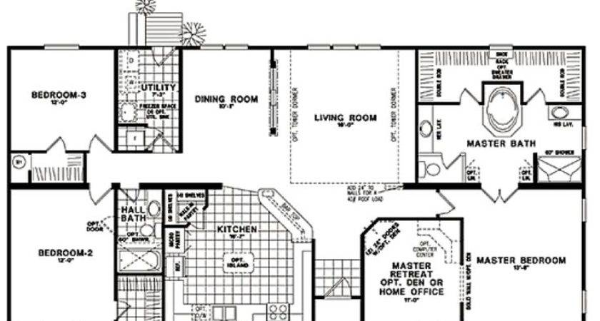 Modular Homes Classic Ranch Home Floor Plans