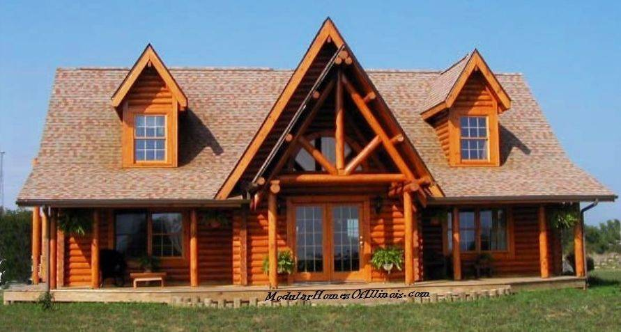 Modular Log Home Cape Cod Dormers Siding Corners