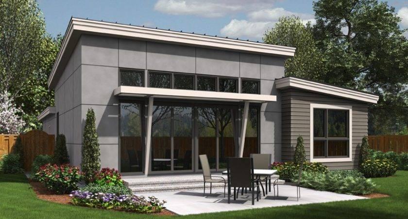 Narrow Contemporary Home Designed Efficiency Excellent Outdoor