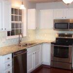 Nice Glass Subway Tile Backsplash Cool White Kitchen