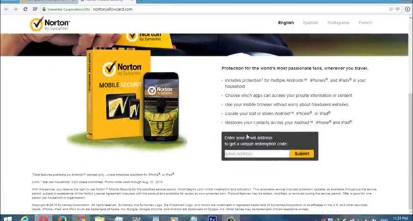 Norton Mobile Security Key One Year Android