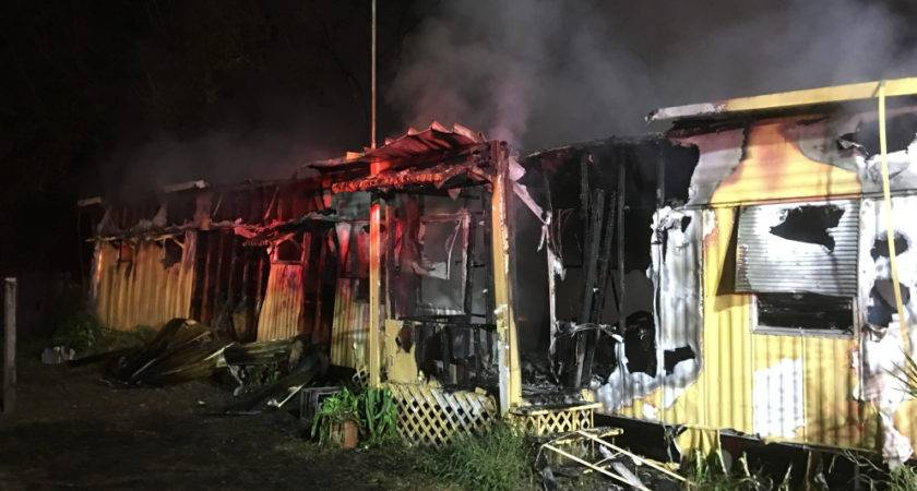 Odessa Fla Wfla Two Mobile Homes Were Gutted Fire Sunday