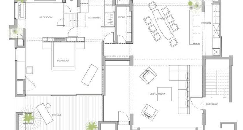 Open Floor Plan Penthouse Interior Design Abraham John Architects