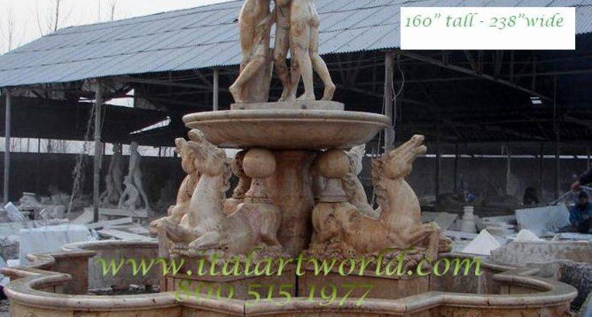 Outdoor Fountains Cast Large Marble Statue Fountain Wall