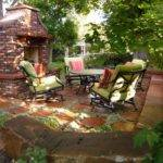 Outdoor Home Garden Patio Design Fireplace