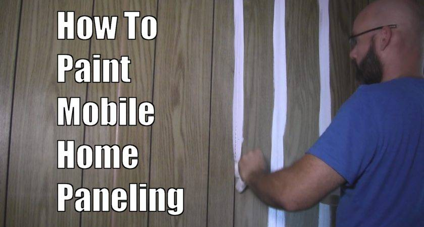 Paint Mobile Home Paneling Youtube