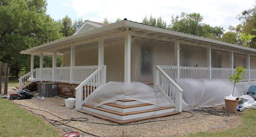 Painting Rear Porch