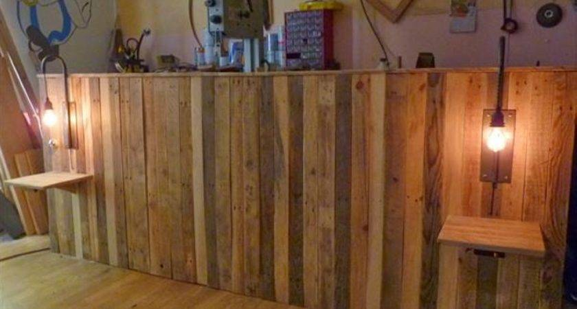Pallet Bed Headboard Shelves Ideas Recycled