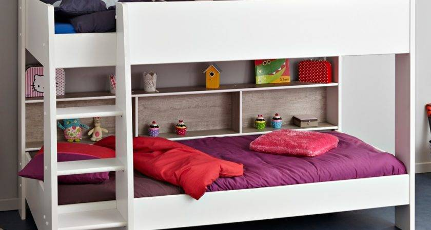 Parisot Tam Childrens Bunk Bed White Loft Grey