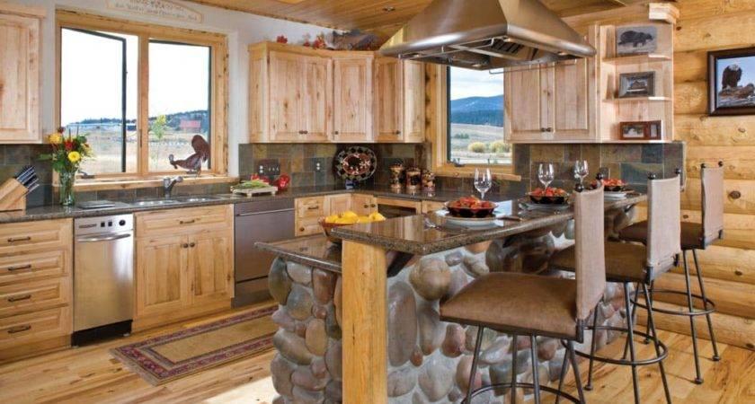 Photos Timber Log Home Kitchens Dining Rooms