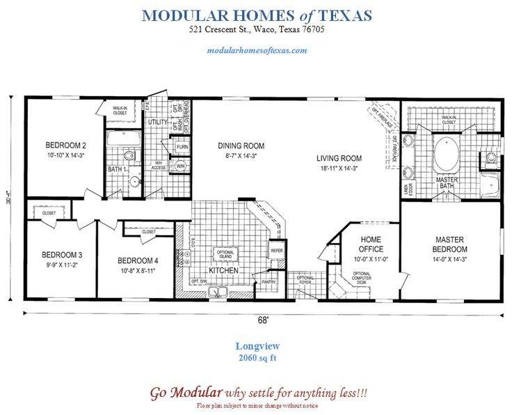 Plans Modular Ranch Waterfront Homes One Story Home