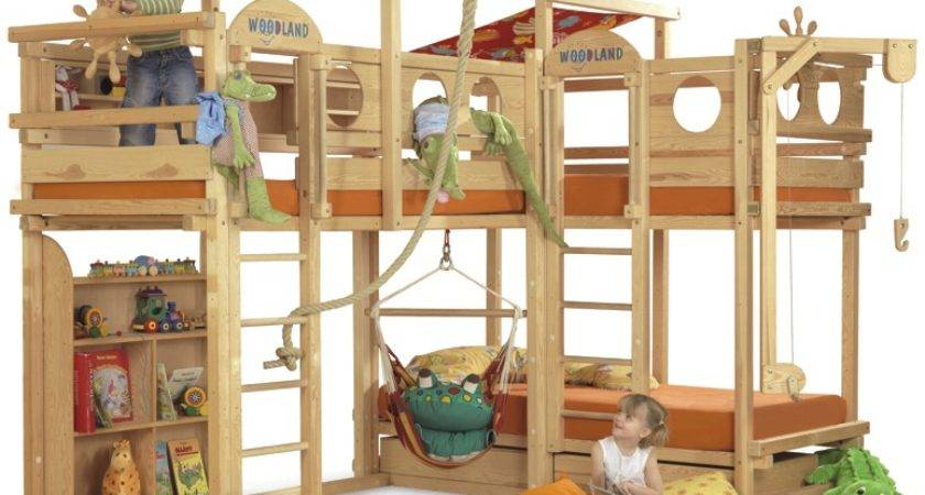 Play Bunk Beds Large Families Woodland Kidsomania