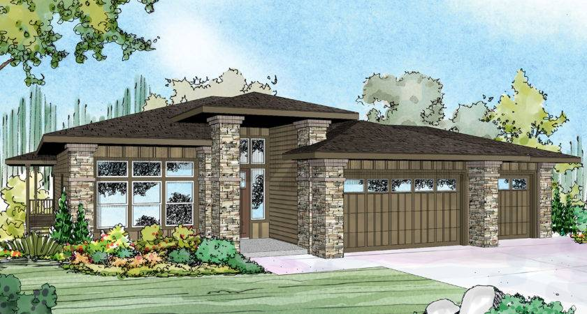 Prairie Style House Plan New Home Craftsman Hood