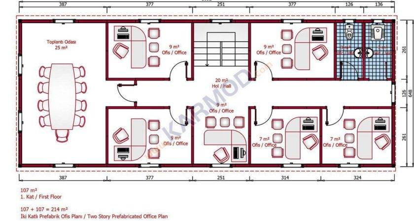 Prefab Office First Floor Plan