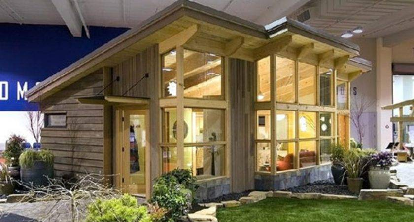 Prefabricated Homes Small Wooden Style Design Large Window Glass