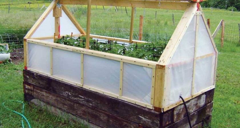 Raised Garden Bed Greenhouse Cover Can Help Extend Your