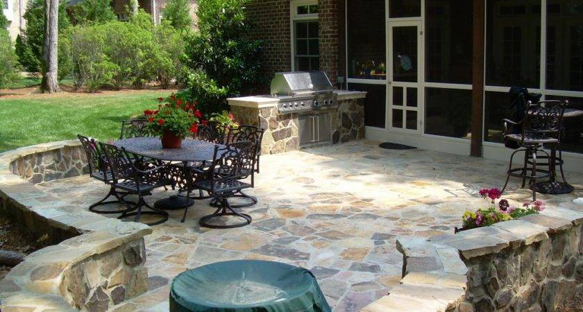 Raleigh Stone Patio Down Earth Landscape Designs Inc